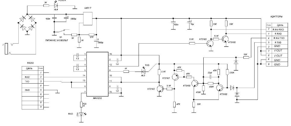 программаторы радиостанций схема